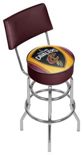 NBA Padded Swivel Barstool With Back Cleveland Cavaliers