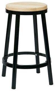 OSP Designs Work Smart Bristow 26 Backless Barstool Black