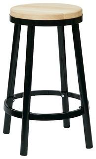 OSP Designs Work Smart Bristow 26 Backless Barstool Black