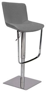 Celeb Swivel Hydraulic Barstool Gray