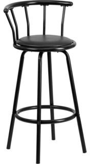 Contemporary Bar Stool Black