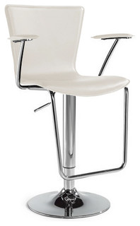 Jaques Adjustable Height Swivel Bar Stool Brown