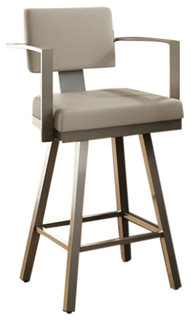 Akers Swivel Counter Stool Warm Gray