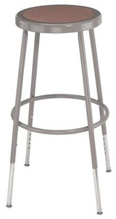 Science Lab Adjustable Stool w Hardboard Seat