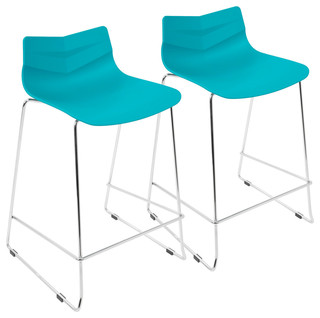 Arrow Contemporary Counter Stool Turqouise Set of 2