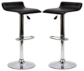 Gloria Bar Stools Black Set of 2