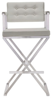 Director Steel Barstool Light Gray
