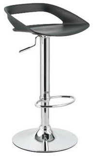 Chi Contemporary Adjustable Bar Stool Black
