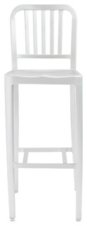 Cafe Bar Stool Matte Aluminum