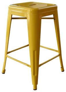 Loft 24 quot Metal Bar Stool Set of 2 Gold