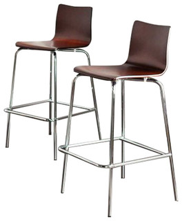 Holly Bar Stools Set of 2 Espresso