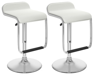 Addy Bar Stools Set of 2 White