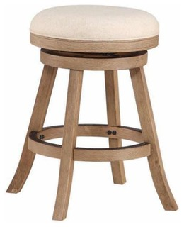 Dune Fenton Counter Stool Wire Brushed Driftwood Gray and Ivory
