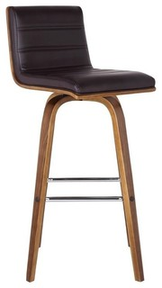 Vienna Faux Leather Counter Stool Brown 26 quot