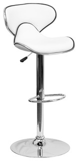 Hayward Mid Back Adjustable Bar Stool White