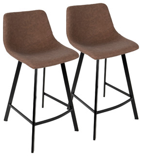 Outlaw Industrial Counter Stool Brown PU Set of 2