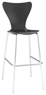 Ernie Wood Bar Stool Black
