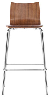 Blence Bar Stools Set of 2 Walnut