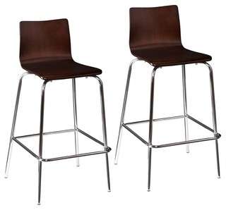 Blence Bar Stools Set of 2 Espresso