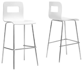 Greta Bar Stools Set of 2 White