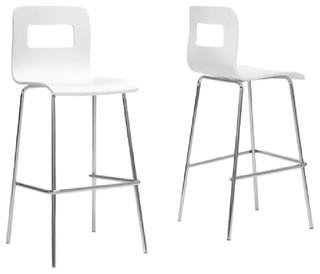 Greta Bar Stools Set of 2 White