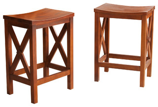 Casselberry Counter Stools Set of 2 Brown Mahogany