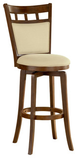 Jefferson Swivel Counter Stool With Cushion Back