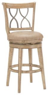 Hillsdale Reydon Swivel Counter Stool Whitewash 26 quot