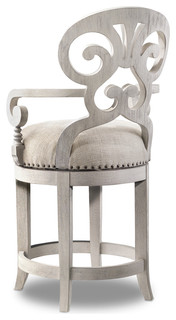 Adelia Upholstered Swivel Counter Stool