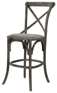 Parisienne Cafe Counter Stool Limed Grey