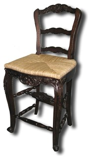 Counter Stool French Country Rattan
