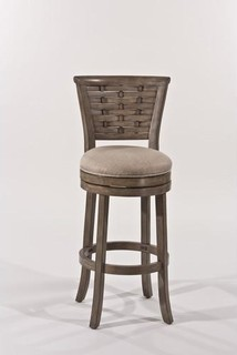 Swivel Counter Stool in Silver Finish