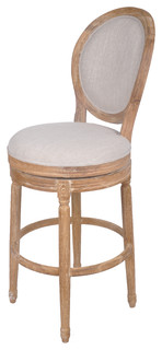 Traditional Swivel Bar Stool Solid Oak