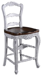 Country French Saddle Seat Counter Stool