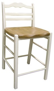 24 quot Ladderback Counter Stool With Pine Seat