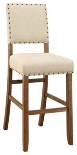 Furniture of America Sania Bar Stools Natural Set of 2 30 25 quot