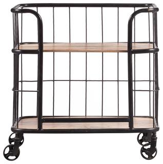 Industrial Wood amp Metal Trolley Bar Cart