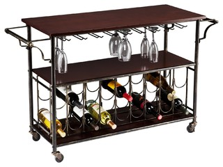 Southern Enterprises Inc Rolden Transitional Wine Bar Cart