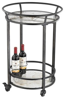 World Map Bar Cart