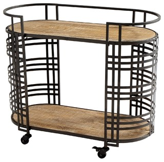 Cyan Design Banded About Bar Cart