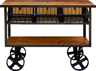 Solid Mango Wood Cart YFUR VAIF325