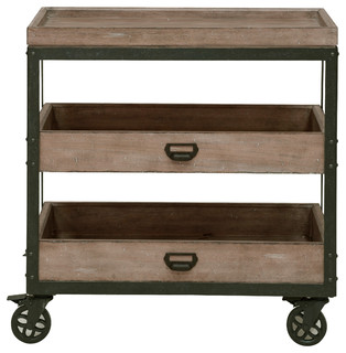 Flatbush Caster Nightstand Cart