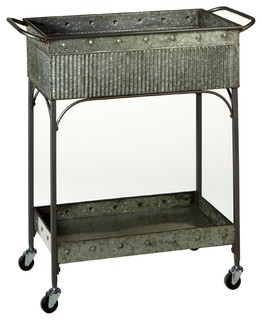 Galvanized 2 Tier Cart