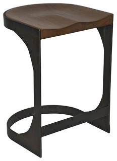 Andie Industrial Loft Modern Rustic Wood Metal Counter Stool