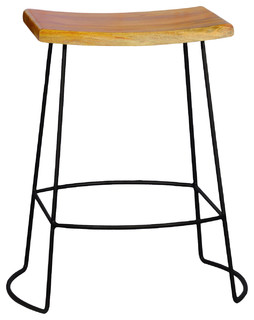 Reece Counter Stool Natural and Black
