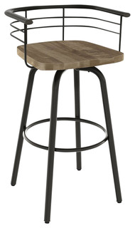 Tilden Stool Gunmetal Base Beige Seat Bar Height