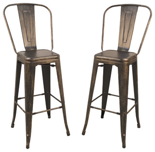 Adeline 30 Barstool Set of 2 Antique Copper