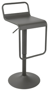 Emery Uptown Bar Stool Matte Gray