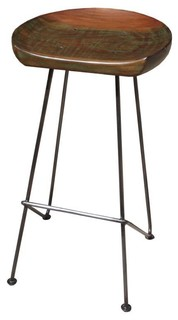 Wood and Metal 31 quot Bar Stool