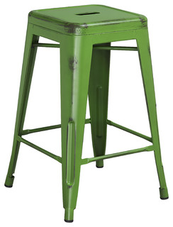 Metal Bar Stool Best Choice Distressed Green